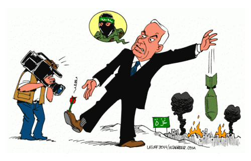 Disegno di Latuff - 2014