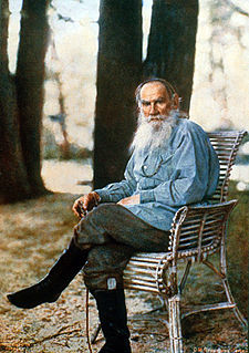 Tolstoy photographed at his Yasnaya Polyana estate in May 1908 by Sergey Prokudin-Gorsky.