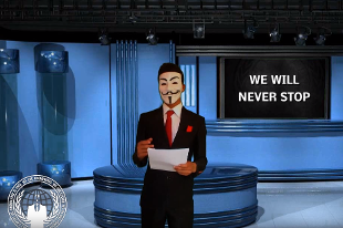 Anonymous attentato isis